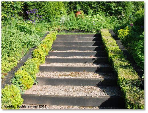 Escalier Jardin Bois Affordable Faire Une Structure Pour Terrasse
